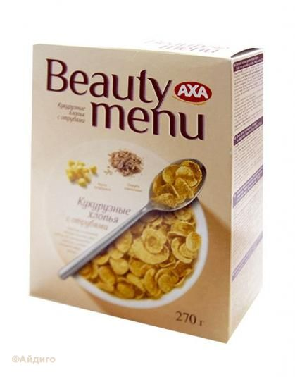Хлопья кукурузные с отрубями АХА Beauty menu 270 г